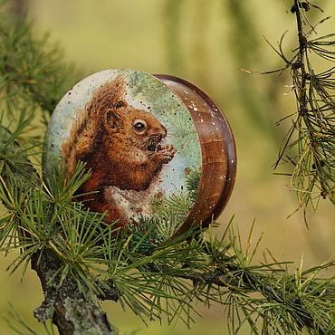 Для дома и интерьера ручной работы. Ярмарка Мастеров - ручная работа Шкатулка деревянная Орехоманка. Handmade.