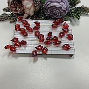 Фурнитура для шитья ручной работы. Ярмарка Мастеров - ручная работа Сердца из акрила на леске Рубиновые. Handmade.