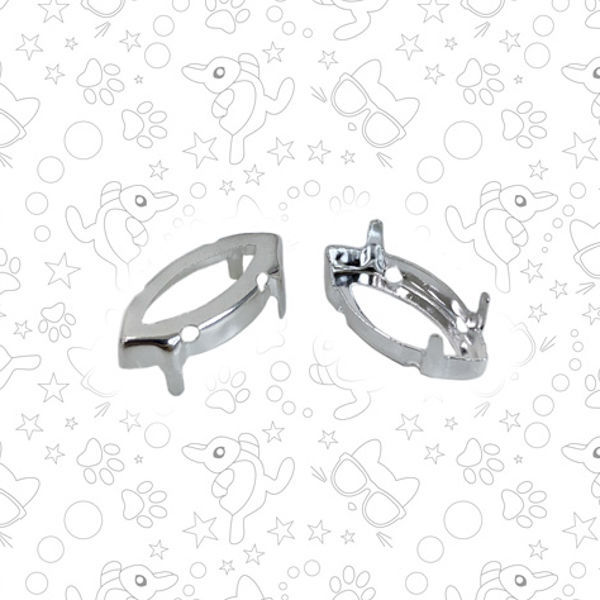 Оправа для Xilion Navette 4228, 15х7 мм, серебро, Материалы, Москва, Фото №1