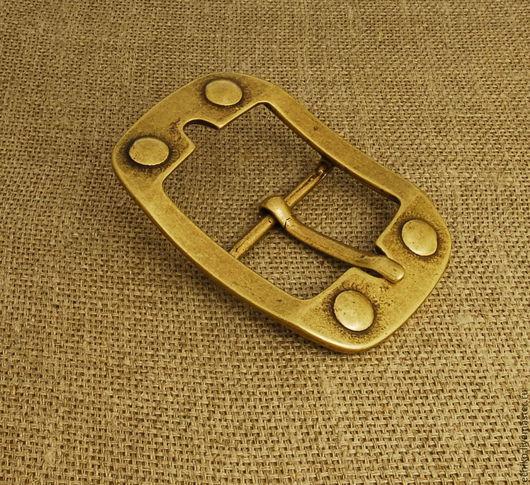 Шитье ручной работы. Ярмарка Мастеров - ручная работа. Купить 45мм Пряжка для ремня из латуни. Италия. Handmade. Оранжевый