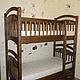 """Мебель ручной работы. Ярмарка Мастеров - ручная работа. Купить Детская двуярусная кровать """"101 Долматинец"""". Handmade. Коричневый, из массива"""