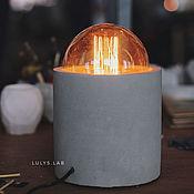 Потолочные и подвесные светильники ручной работы. Ярмарка Мастеров - ручная работа Настольный светильник из бетона Лофт R2D2 с винтажной лампой Эдисона. Handmade.