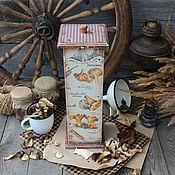 """Для дома и интерьера ручной работы. Ярмарка Мастеров - ручная работа """"Лисички"""" Короб-спагетница. Handmade."""