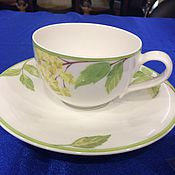 Посуда handmade. Livemaster - original item Cup and saucer Villeroy and Boch porcelain Germany. Handmade.