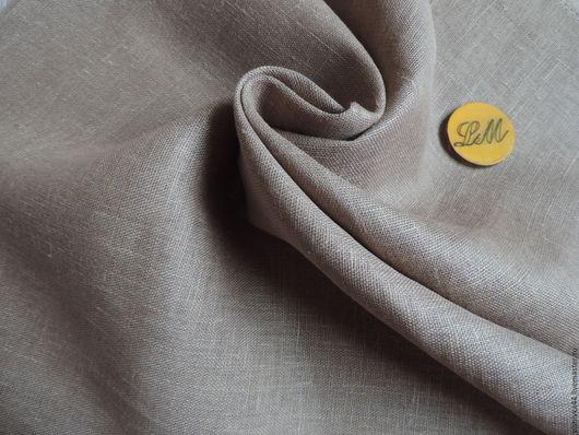 Шитье ручной работы. Ярмарка Мастеров - ручная работа. Купить ткань лен сетка серо бежевая. Handmade. Лен