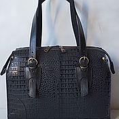 Классическая сумка ручной работы. Ярмарка Мастеров - ручная работа Чёрная сумка из мягкой кожи. Handmade.