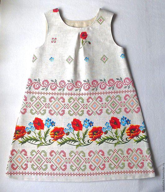 """Одежда для девочек, ручной работы. Ярмарка Мастеров - ручная работа. Купить Платье для девочки из  хлопка """"Маков цвет"""".. Handmade. Цветочный"""
