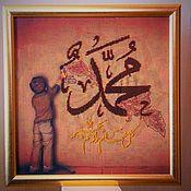 Картины и панно handmade. Livemaster - original item Shamail-Muhammad the prophet of Allah, beading. Handmade.