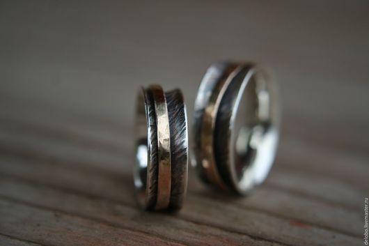 Кольца ручной работы. Ярмарка Мастеров - ручная работа. Купить Кольца на заказ из золота и серебра. Handmade. Обручальные кольца