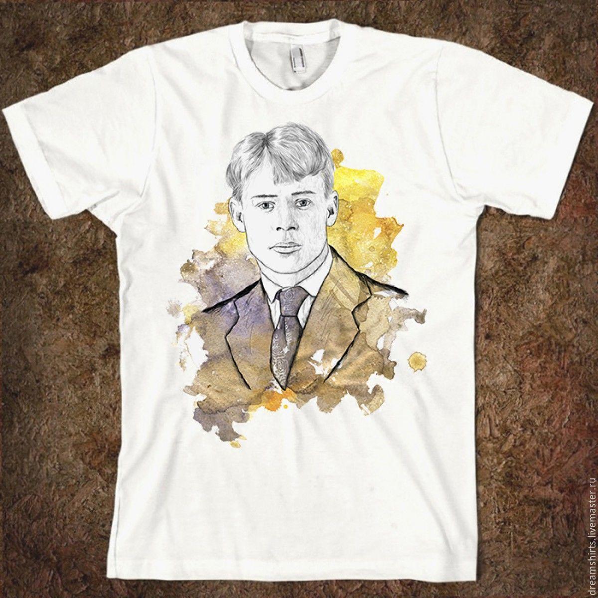 "Футболка хлопковая ""Есенин"", T-shirts, Moscow,  Фото №1"