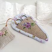 Для дома и интерьера handmade. Livemaster - original item Case for scissors and mini needle holder hand embroidery. Handmade.