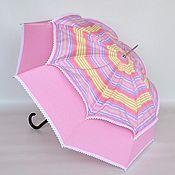 """Аксессуары ручной работы. Ярмарка Мастеров - ручная работа Зонт от солнца """"Double pink"""". Handmade."""