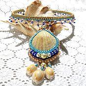 Украшения handmade. Livemaster - original item Necklace: Ondine. Macrame necklace with sea rukushki. Handmade.