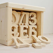 Куклы и игрушки ручной работы. Ярмарка Мастеров - ручная работа Русский алфавит из дерева, деревянный алфавит, азбука, учимся читать. Handmade.