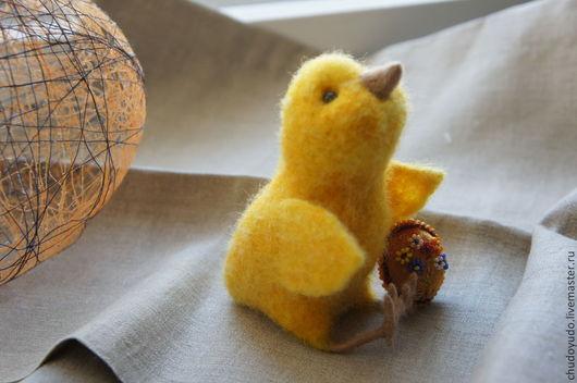 Игрушки животные, ручной работы. Ярмарка Мастеров - ручная работа. Купить Цыпленок-цыпушка. Handmade. Желтый, подарок