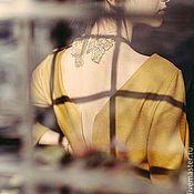 Одежда ручной работы. Ярмарка Мастеров - ручная работа Платье цвета шафрана. Handmade.