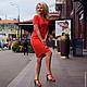 """Платья ручной работы. Ярмарка Мастеров - ручная работа. Купить Платье из штапеля """"Конфетка"""". Handmade. Ярко-красный, платье короткое"""