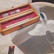 Материалы для творчества ручной работы. Ярмарка Мастеров - ручная работа Футляр для люневильского крючка. Handmade.