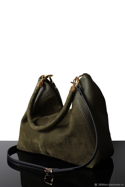 b0ea8bbdc842 Женские сумки ручной работы. Ярмарка Мастеров - ручная работа. Купить Hobo  Olive, замшевая ...
