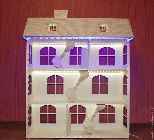 Кукольный дом ручной работы. Ярмарка Мастеров - ручная работа. Купить Кукольный домик, для любимой доченьки. Handmade. Белый, домик большой