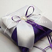 Свадебный салон ручной работы. Ярмарка Мастеров - ручная работа Свадебная подушечка для колец Katrina. Handmade.