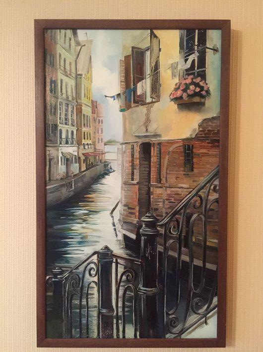 Абстракция ручной работы. Ярмарка Мастеров - ручная работа. Купить Улицы Венеции. Handmade. Картина в подарок, живопись маслом, дерево