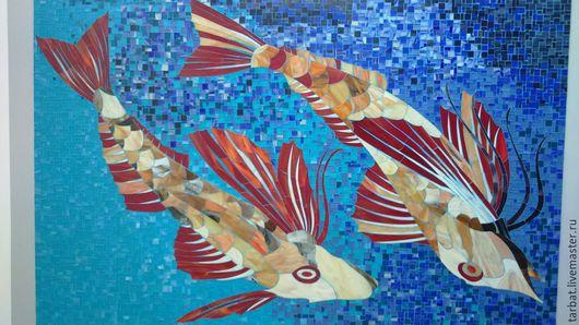 Фэнтези ручной работы. Ярмарка Мастеров - ручная работа. Купить Рыбы. Handmade. Стекло, животное, рыбы, мозаика из стекла