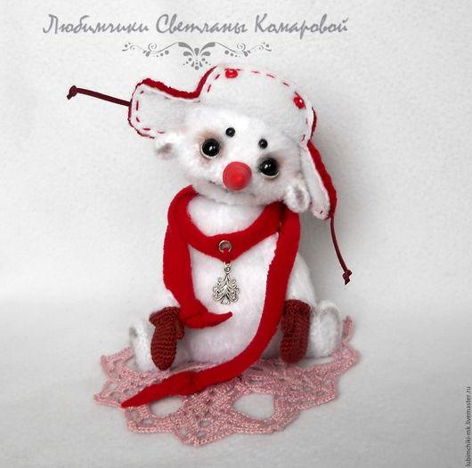 Вязание ручной работы. Ярмарка Мастеров - ручная работа. Купить Снеговик Афоня. Handmade. Комбинированный, крючок