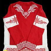 Русский стиль handmade. Livemaster - original item Shirt linen