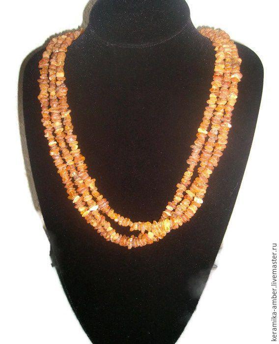 Health Raw Amber stone necklace adult Baltic amber jewelry Boho, Necklace, Kaliningrad,  Фото №1