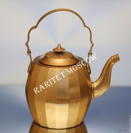 Винтажная посуда. Ярмарка Мастеров - ручная работа. Купить Чайник кофейник бронза латунь Англия 5. Handmade. Золотой, бронзовый