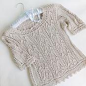 Одежда handmade. Livemaster - original item Linen summer blouse. Handmade.