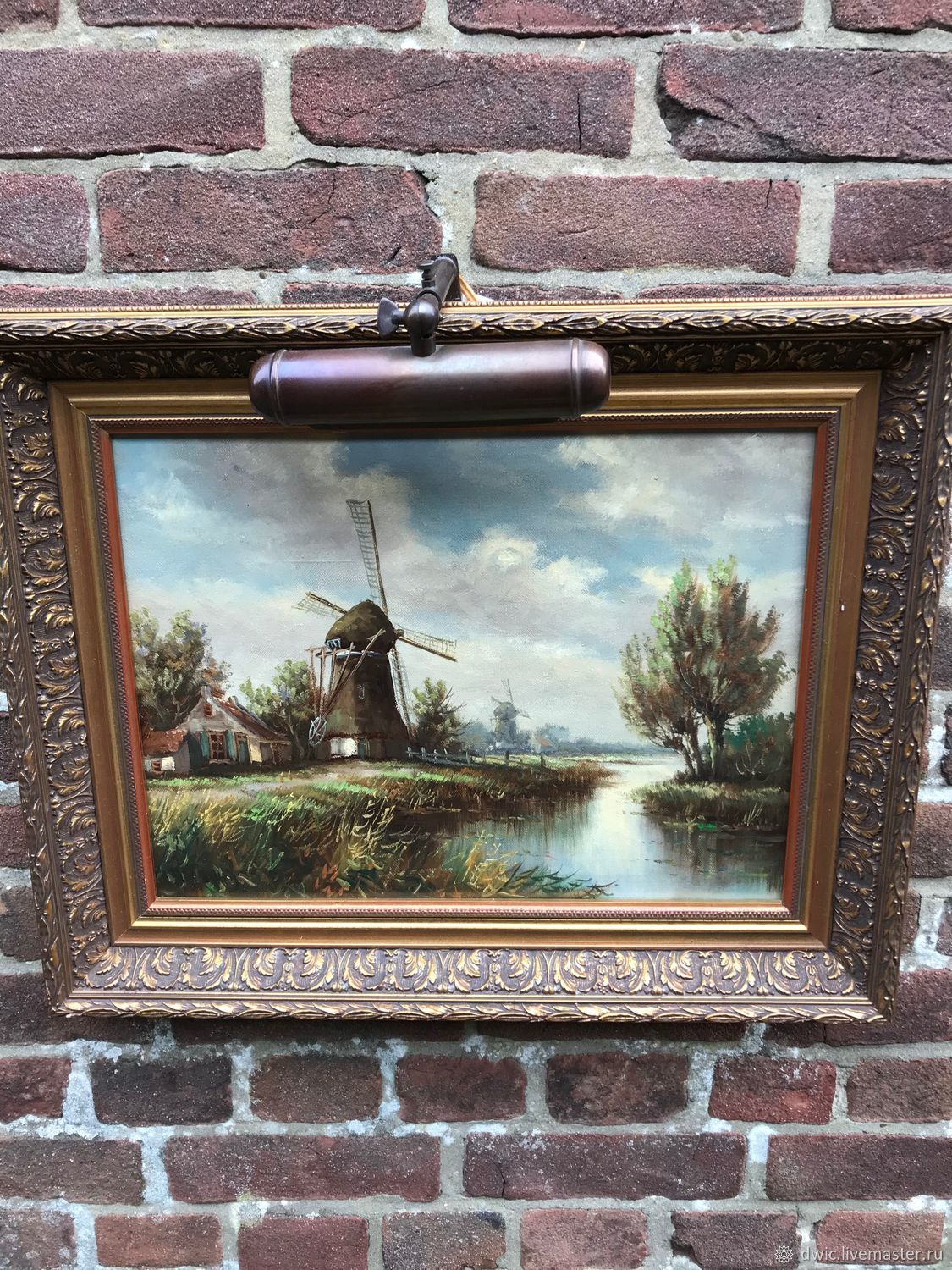 Painting 'House in a Dutch village', oil, Holland, Vintage interior, Arnhem,  Фото №1