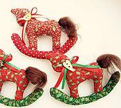 Куклы и игрушки ручной работы. Ярмарка Мастеров - ручная работа Лошадки новогодние. Handmade.