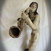 """Для дома и интерьера ручной работы. Ярмарка Мастеров - ручная работа Скульптура """"Соло на саксофоне"""". Handmade."""