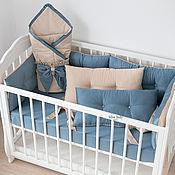 Работы для детей, handmade. Livemaster - original item Bumpers in the crib 6pcs. Handmade.