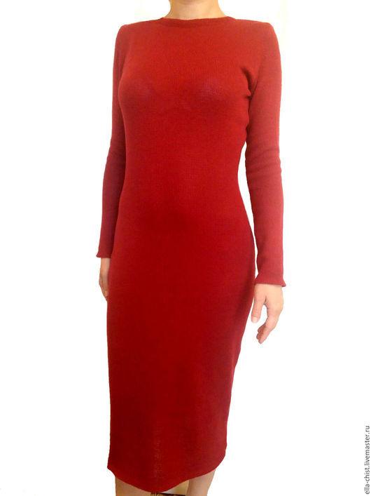 вязаное платье из кашемира