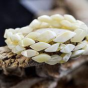 Украшения handmade. Livemaster - original item Elegant beads of white amber. Handmade.