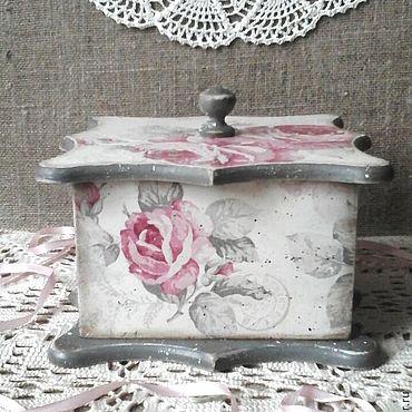 Для дома и интерьера ручной работы. Ярмарка Мастеров - ручная работа Большой короб Розы в стиле шебби,винтаж,шебб -шик. Handmade.