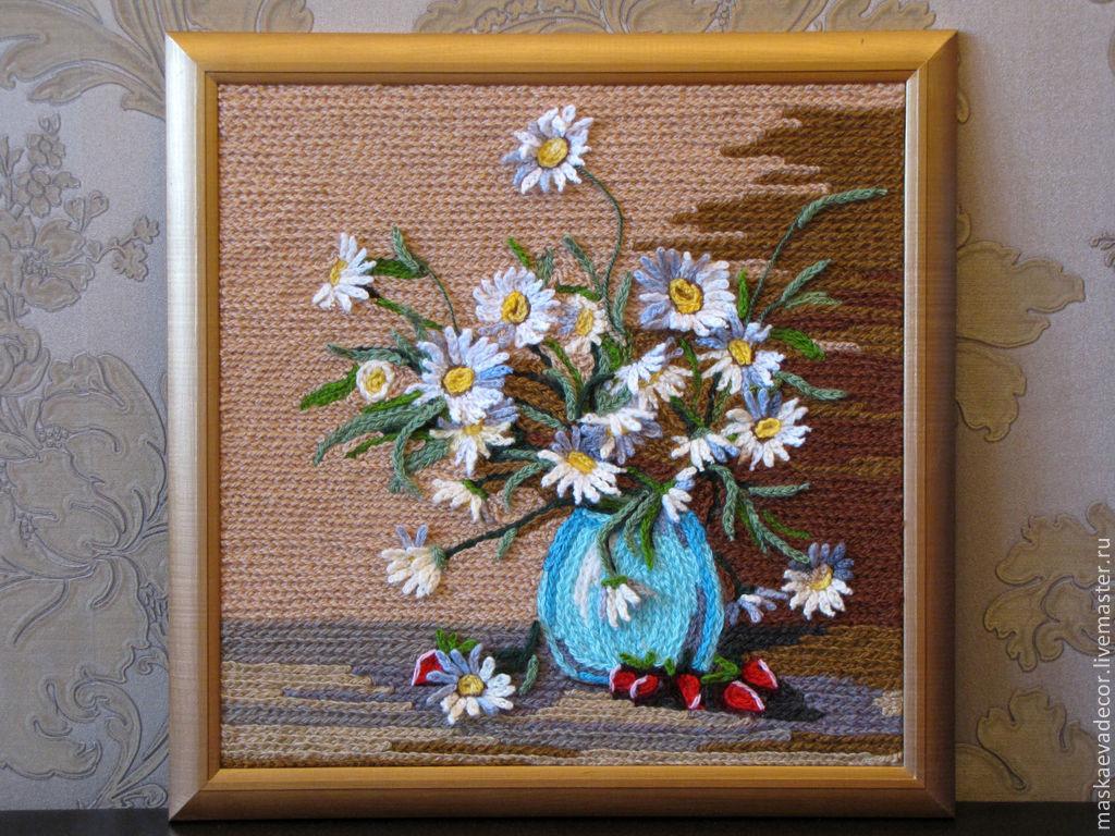 Вязание картин из цветов 530
