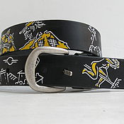 Аксессуары handmade. Livemaster - original item belt leather