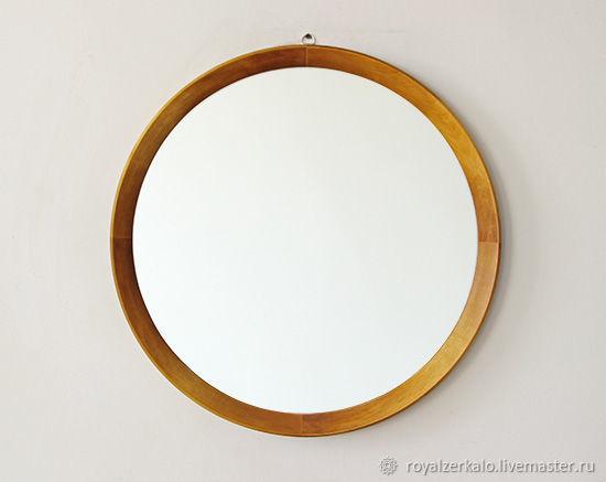 зеркала круглое зеркало в деревянной раме круглое зеркало в ванную