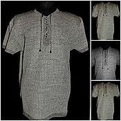 Одежда handmade. Livemaster - original item Associated linen shirt with lacing