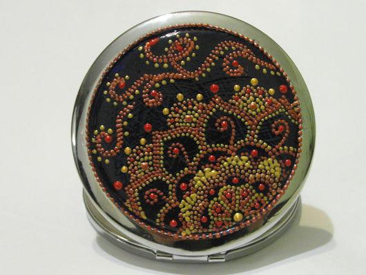 Декорированные зеркальца ручной работы. Ярмарка Мастеров - ручная работа. Купить зеркало карманное декорированное. Handmade. Комбинированный, роспись