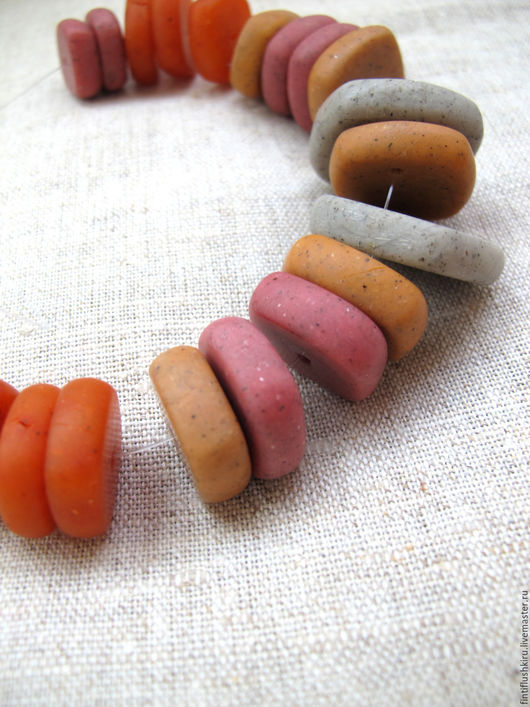 Для украшений ручной работы. Ярмарка Мастеров - ручная работа. Купить Бусины из полимерной глины. Handmade. Розовый, бусины из пластика