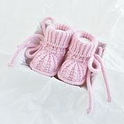 Одежда детская handmade. Livemaster - original item Booties for newborn girl. Merino angora. Handmade.