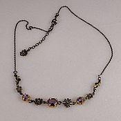 Украшения handmade. Livemaster - original item Silver necklace with amethyst.. Handmade.