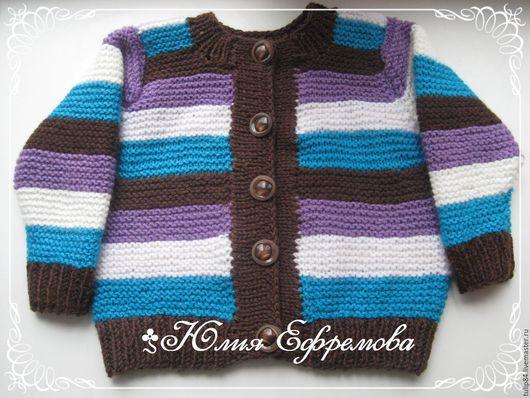 """Одежда для мальчиков, ручной работы. Ярмарка Мастеров - ручная работа. Купить Кофта """"Полоска"""". Handmade. Комбинированный, однотонный, детская кофта"""