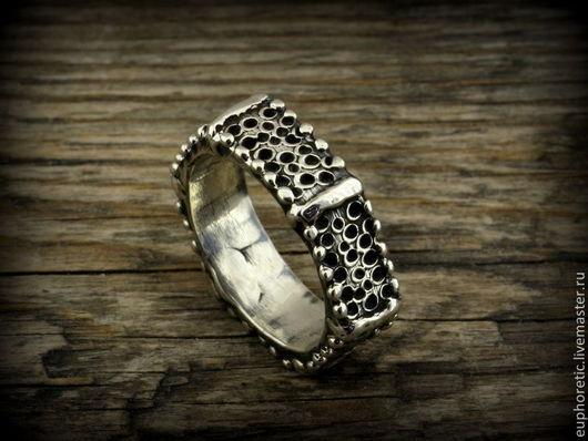 """Кольца ручной работы. Ярмарка Мастеров - ручная работа. Купить """"Читать по рукам"""" серебряное кольцо унисекс. Handmade. Серебряный"""