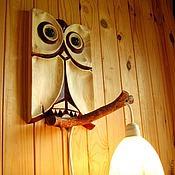 Для дома и интерьера ручной работы. Ярмарка Мастеров - ручная работа Светильник Сова. Handmade.